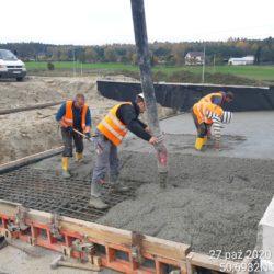 Betonowanie płyty przejściowej MS-25 km 23+979 jezdnia prawa