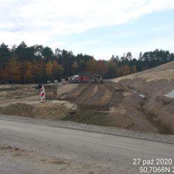 Plantowanie terenu przy obiekcie WD-22 km 22+350 strona prawa