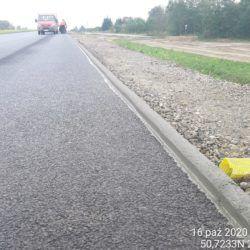 Wykonanie zabezpieczenia przeciw wymyciom skarp km 19+800 jezdnia prawa