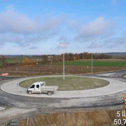 Rondo w km 18+536 - Węzeł Janów Lubelski Północ - strona lewa