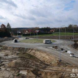 Rondo w km 18+536 - Węzeł Janów Lubelski Północ - strona prawa