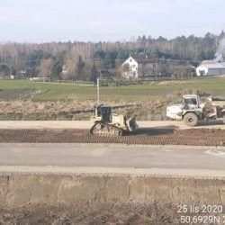 Profilowanie terenu w pasie drogowym 24+150
