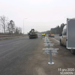 Montaż barier stalowych 24+580