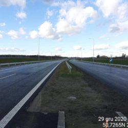 Widok ciągu głównego w kierunku na Lublin 19+160