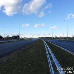 Widok na ciąg główny w kierunku na Lublin 21+150