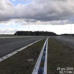 Widok na ciąg główny w kierunku na Rzeszów 21+150