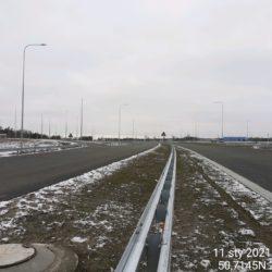 Zaawansowanie robót w kierunku na Lublin 21+500