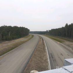 Zaawansowanie robót w kierunku na Lublin obiekt WD-22 22+300