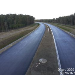 Zaawansowanie robót w kierunku na Lublin z obiektu WD-22 22+300