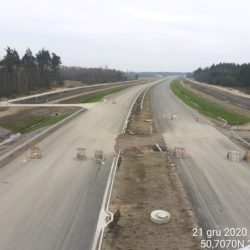 Zaawansowanie robót w kierunku na Rzeszów obiekt WD-22 22+300