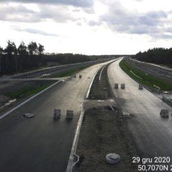 Zaawansowanie robót w kierunku na Rzeszów z obiektu WD-22 22+300