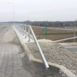 Montaż barier na obiekcie WS-20 18+536