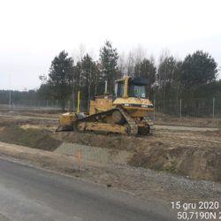 Profilowanie terenu w pasie drogowym 20+750