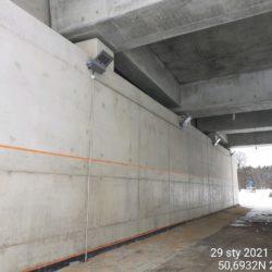 Montaż oświetlenia pod obiektem WS-25 23+979