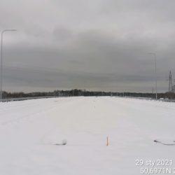Tyczenie miejsc pod montaż barier stalowych w kierunku na Rzeszów 23+500