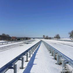 Widok ciągu głównego w kierunku na Lublin 20+370