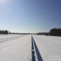 Widok ciągu głównego w kierunku na Rzeszów 23+200