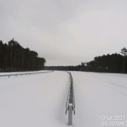 Widok na ciąg główny w kierunku na Lublin 22+270