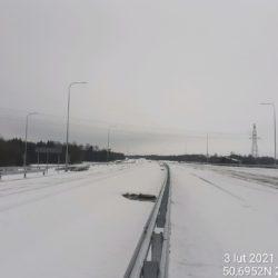 Widok na ciąg główny w kierunku na Lublin 23+550