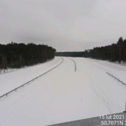 Widok na ciąg główny w kierunku na Lublin z obiektu WD-22 22+300