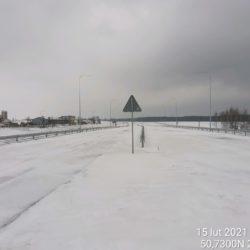 Widok na ciąg główny w kierunku na Rzeszów 18+560