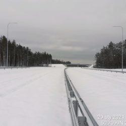 Widok na ciąg główny w kierunku na Rzeszów 21+900