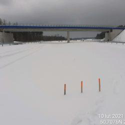 Widok na ciąg główny w kierunku na Rzeszów 22+270