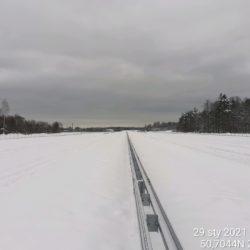 Widok na ciąg główny w kierunku na Rzeszów 23+000