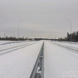 Widok na ciąg główny w kierunku na Rzeszów 23+100
