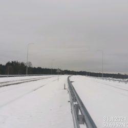 Widok na ciąg główny w kierunku na Rzeszów 23+550