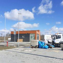 Wykonanie elewacji budynku MOP lewy