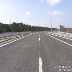 Wykonanie oznakowania poziomego na jezdni prawej 24+030