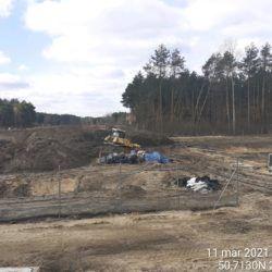 Profilowanie terenu przy zbiorniku ZR-3 21+620