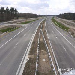 Widok na ciąg główny w kierunku na Rzeszów z obiektu WD-22 22+300