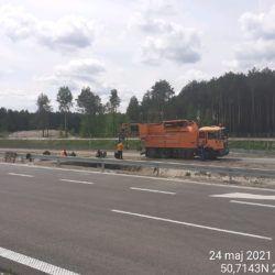 Oczyszczanie kanalizacji w km 21+500