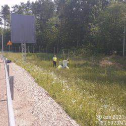 Montaż szafy sterowania SZR przy łącznicy L08L 24+020