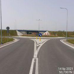 Dojazd do ronda lewego przy obiekcie WS-20 18+536