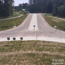 Dojazd do ronda pod obiektem WS-25 23+979 strona lewa