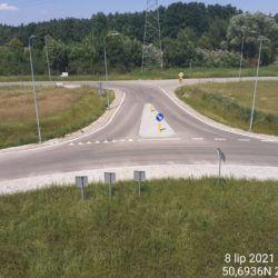 Dojazd do ronda pod obiektem WS-25 23+979 strona prawa