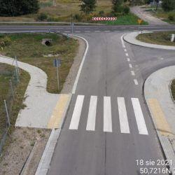 Droga gminna przy obiekcie WS-21 20+375 strona lewa